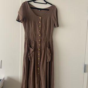 Vintage Italian linen midi dress